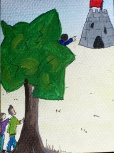 The twelve brothers © Pip Harrison illustration for Brothers Grimm story