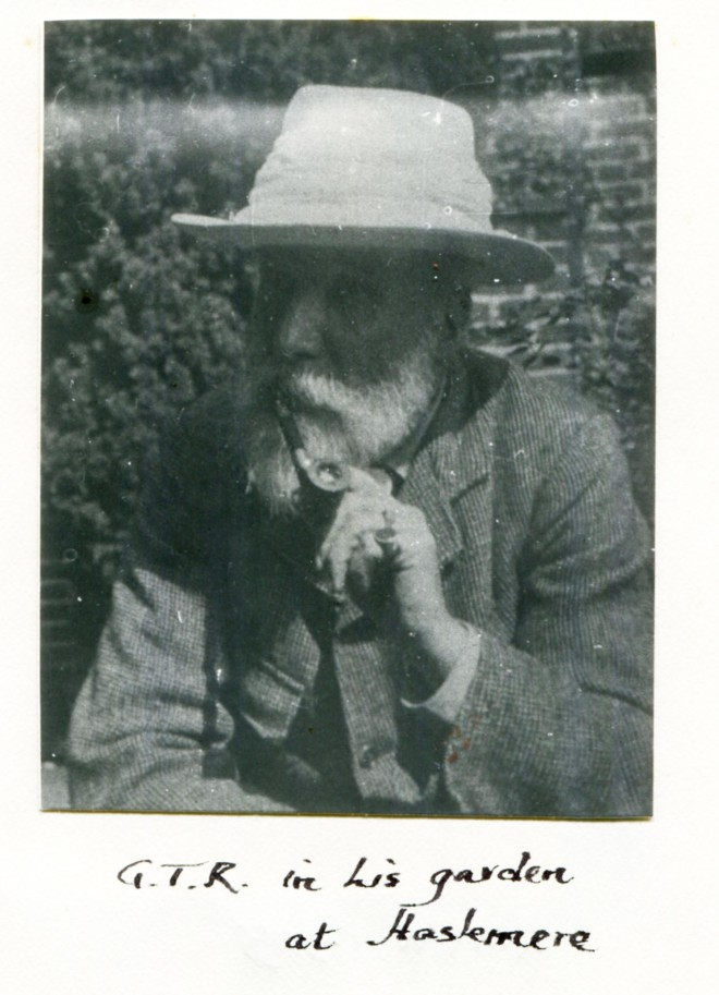 Photo of George Tunstall Redmayne in his garden
