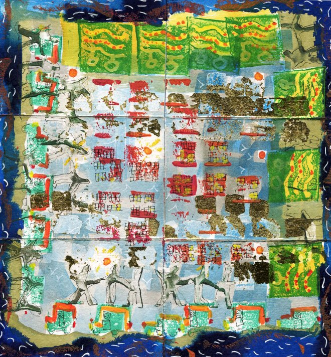 a group of 6 ATCs by Catherine Redmayne