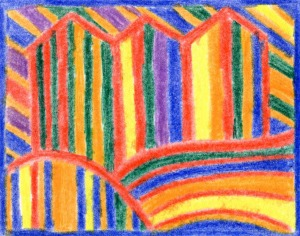 after Hundertwasser a la Carla Sonheim