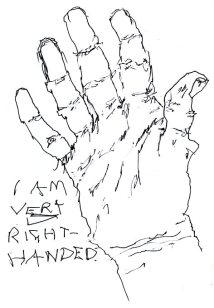 drawing wrong-handed